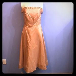 Amazing vintage taffeta party dress pink blush 6
